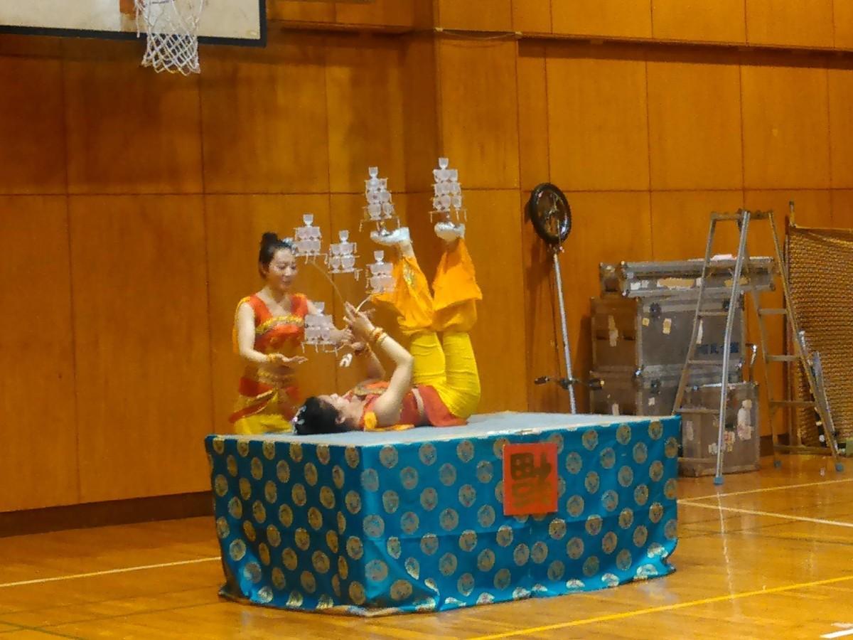中国雑技に観客が盛んな拍手を送った