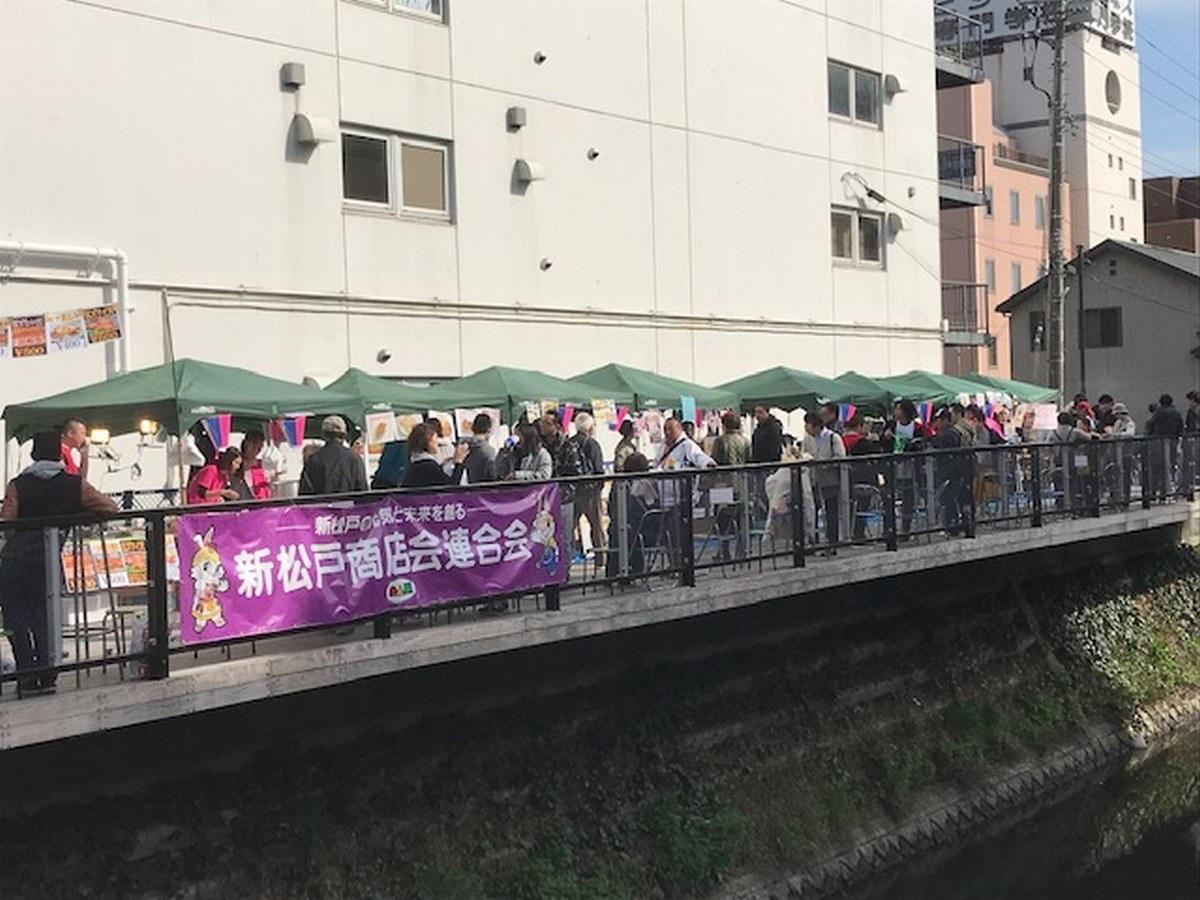 今年3月に新坂川親水テラスで開催された「さくら祭り」の様子