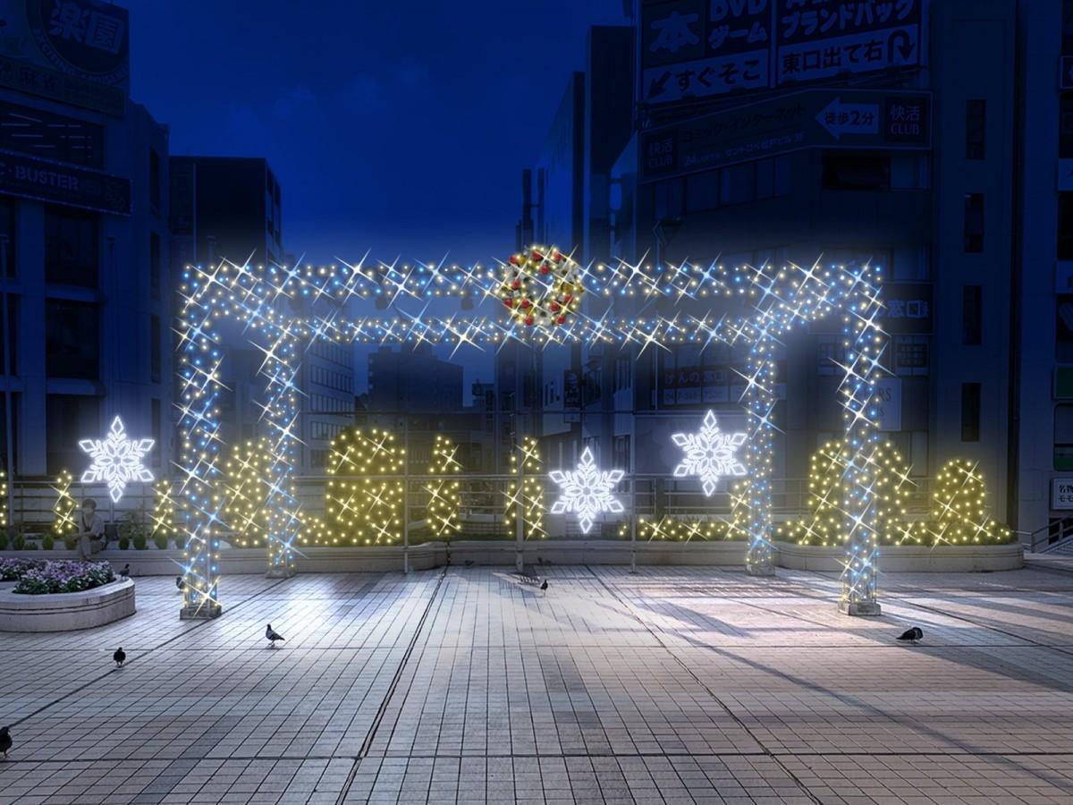 松戸駅前でクリスマスイベント イルミネーションとオンライン演奏会 - 松戸経済新聞
