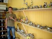 安曇野にカフェギャラリー-造形作家が出店、スプーンアート作品展示