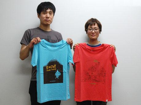 「ENJOY YOUR HIKE T」(写真左)と「YARI PEAK T」