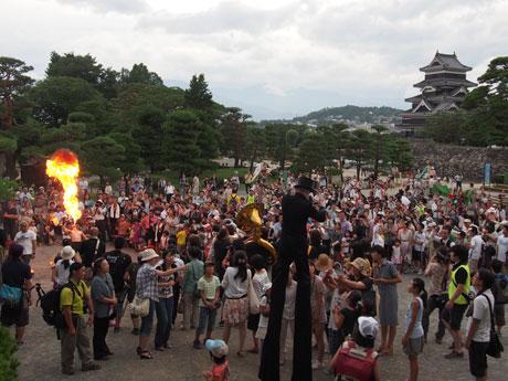 松本城公園で行われたフィナーレ