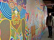 松本・筑摩のスタジオで巨大壁画の完成お披露目 ライブイベントも