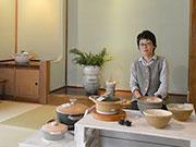 松本で陶芸家・松浦唱子さん個展 土鍋や耐熱皿、「女の子」の花器も