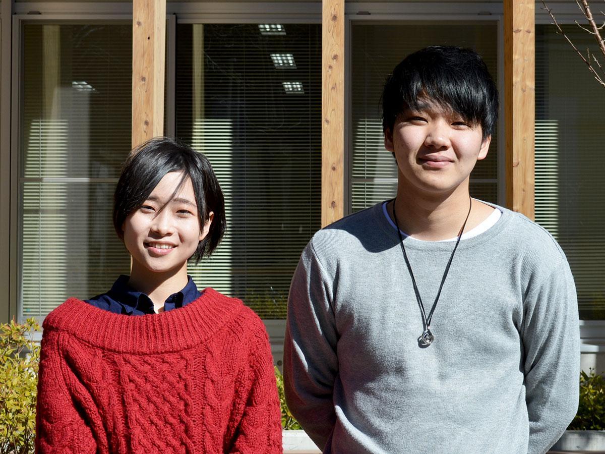 支援を呼び掛ける川内さん(写真左)と宮村さん