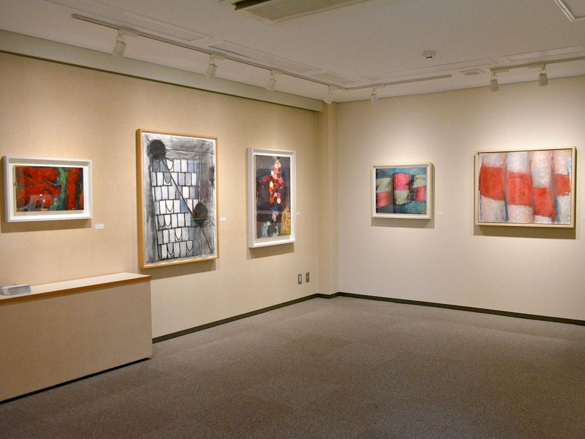 松本のギャラリーで「辰野登恵子展」 色と形に温かみ感じる作品15点 ...