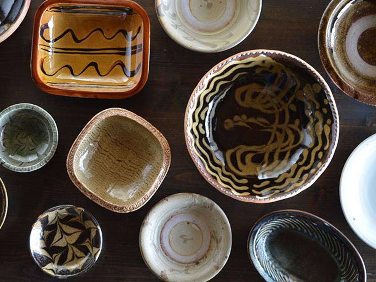 ラインアップの一部。「objects」から近い「湯町窯」のものも多数並ぶ