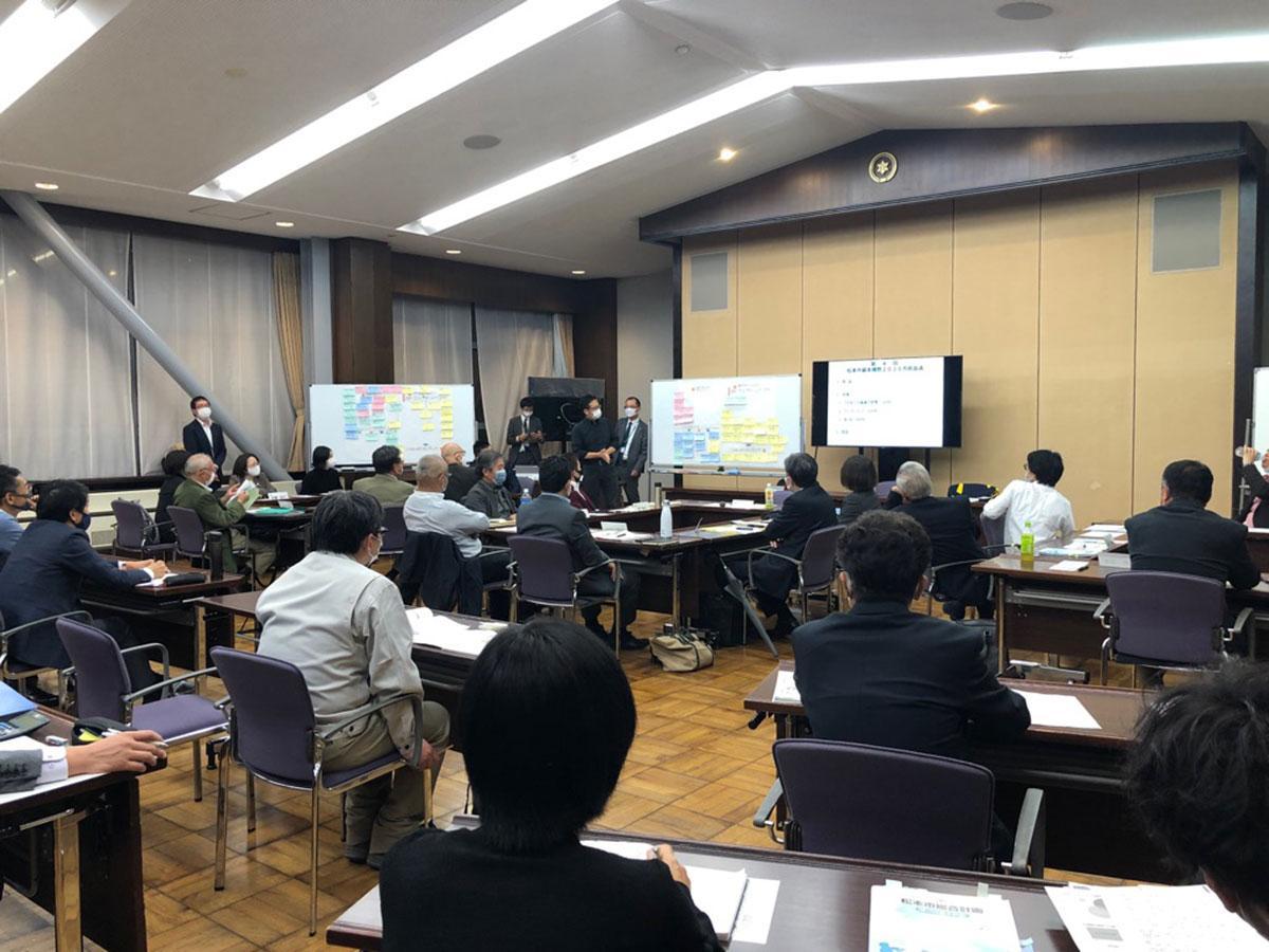 「松本市基本構想2030市民会議」の様子