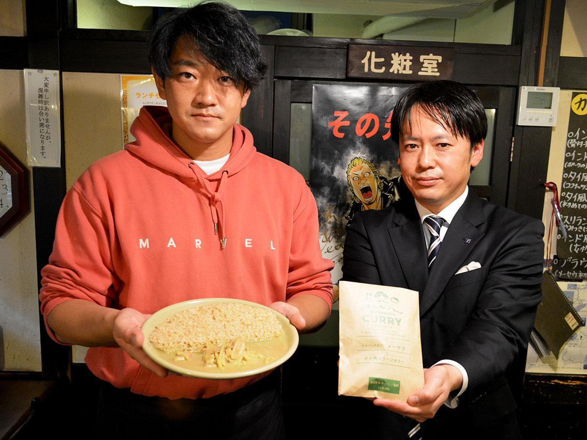 「メーヤウのグリーン、と言ってもらえる再現率だと思う」と小山さん(写真左)