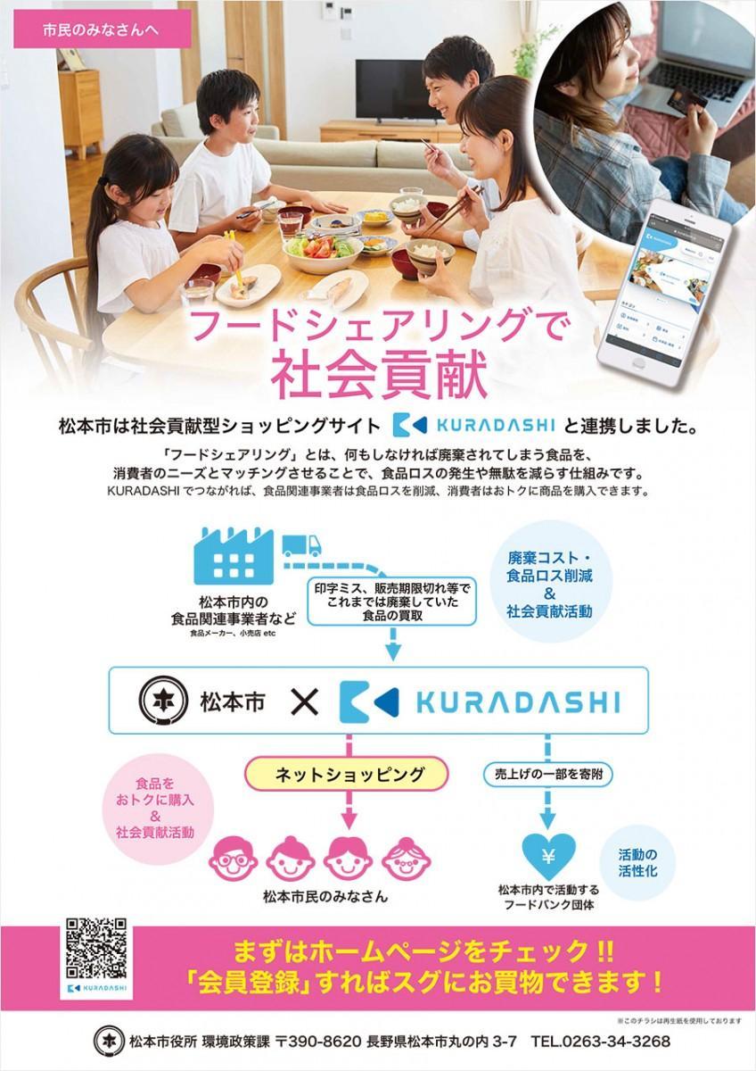 松本市×「KURADASHI」チラシ