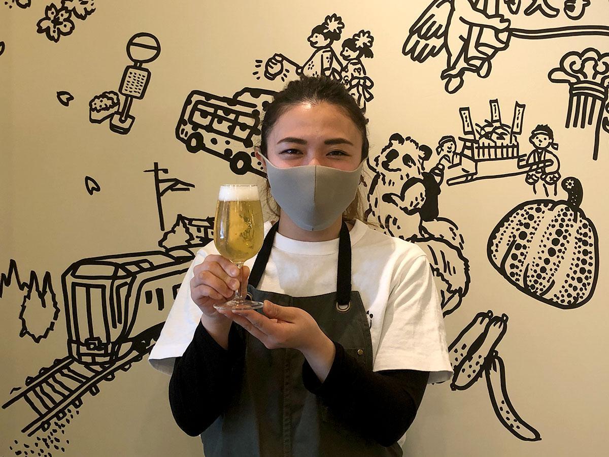「飲みやすいと好評」という松本井戸水ビール