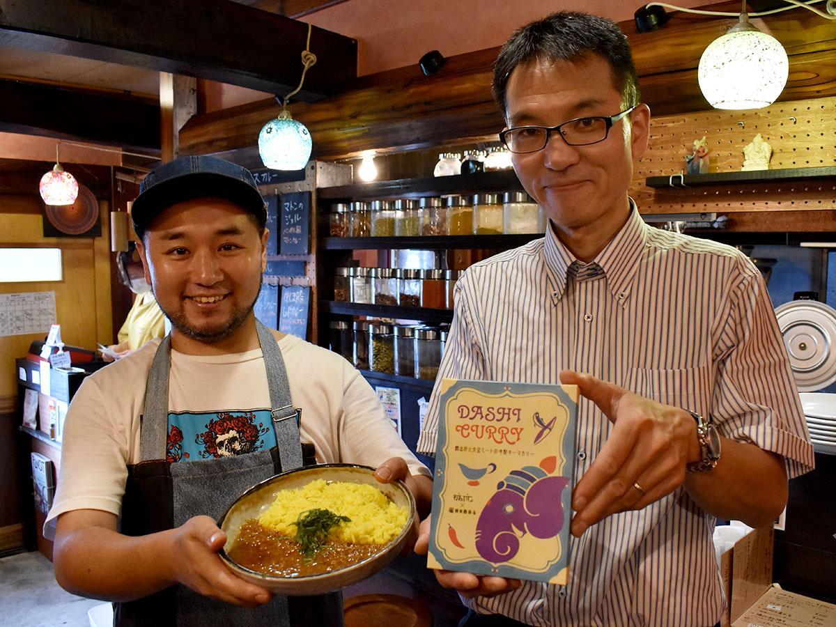 「スパイスと和だしの組み合わせを楽しんで」と元木さん(左)と植田さん