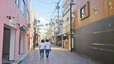会場となる柳井町商店街