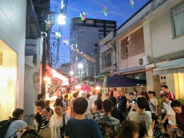 第2回「柳井町商店街カモン夜市」の様子(2018年7月撮影)