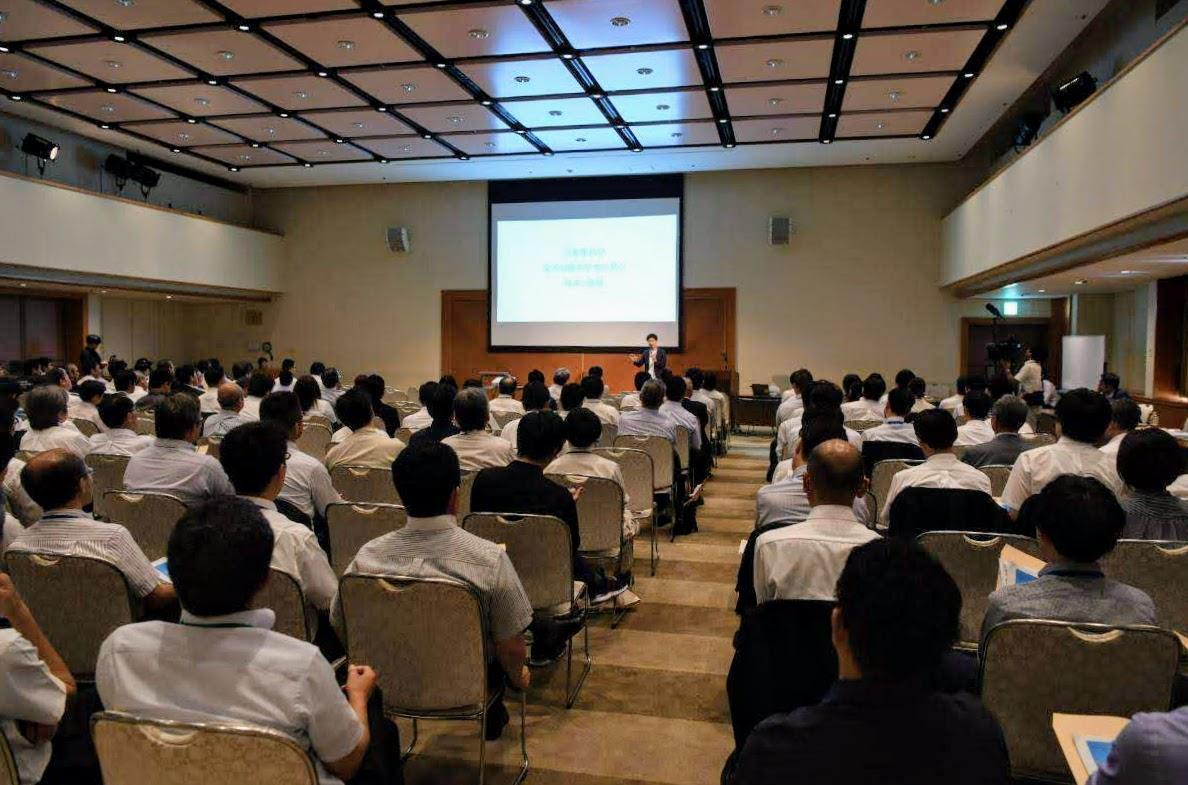 松山市総合コミュニティセンターで開催され、約170人が参加した「RPA活用セミナー」