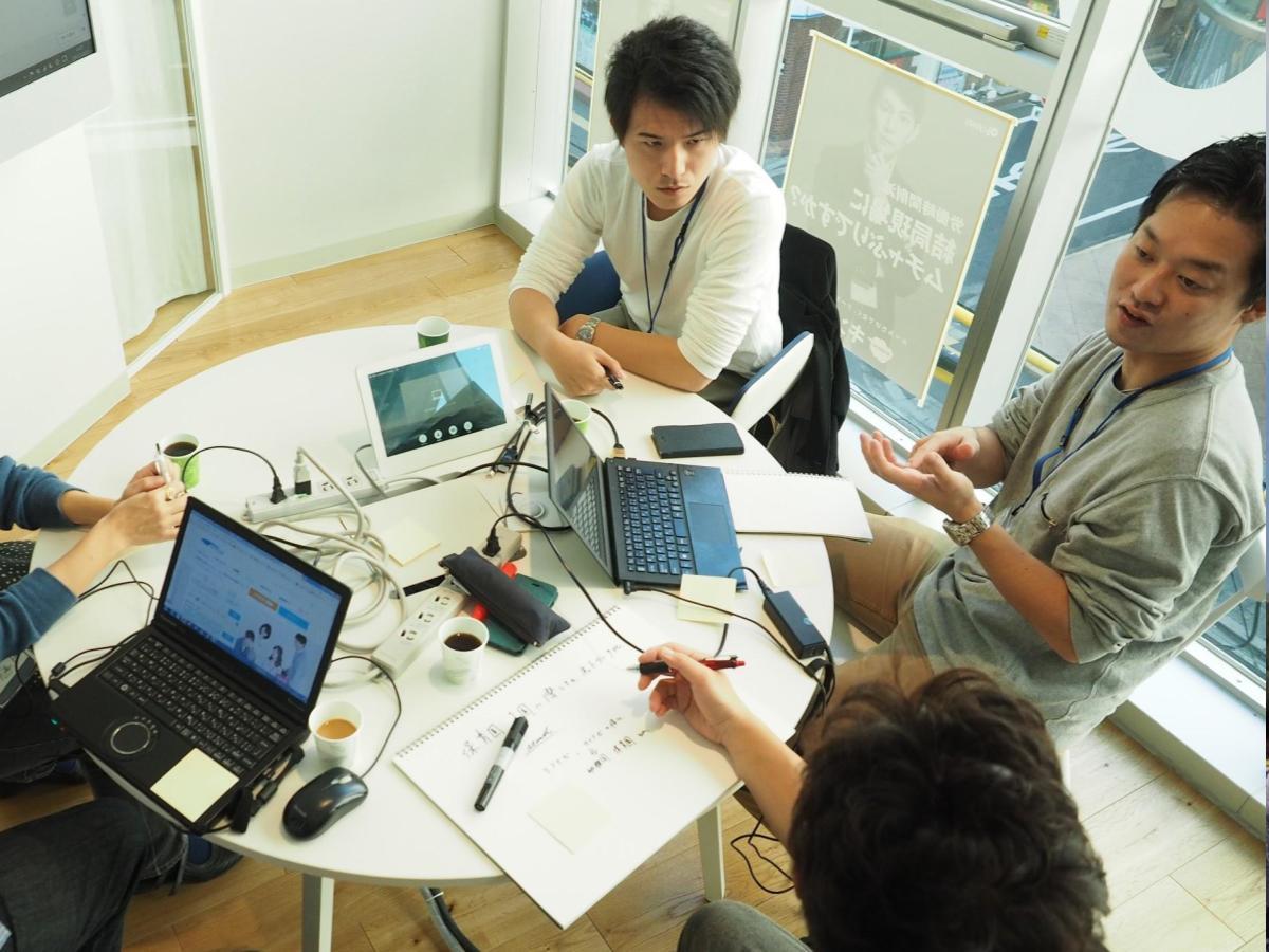 グループで「企業の課題解決や新サービス創出のためのワークショップ」に取り組む