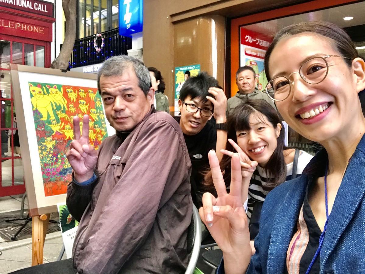 優勝した曽我部林造さんと、デザイナー安藤里実さん(huahua design)のチーム