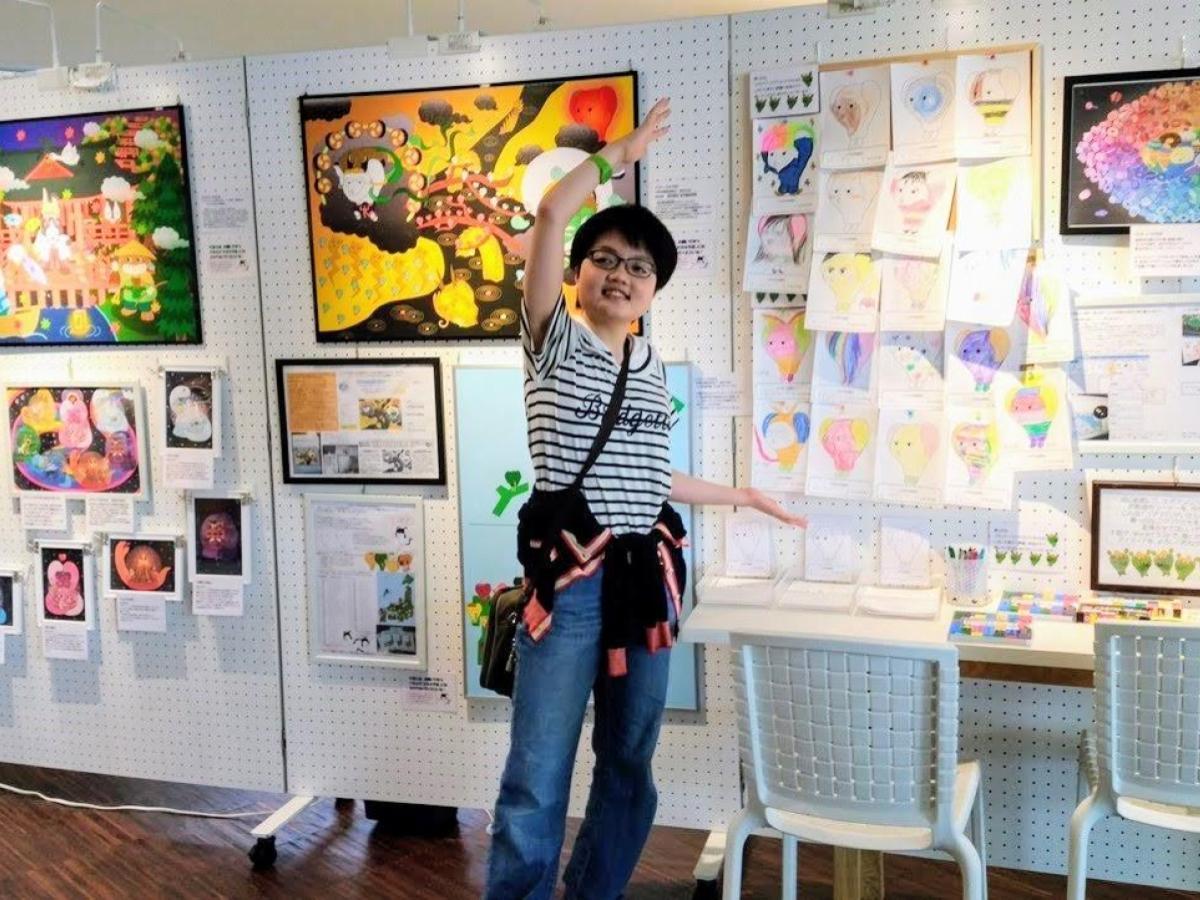 あかがねミュージアムアート工房での作品展開催の様子(2019年8月)