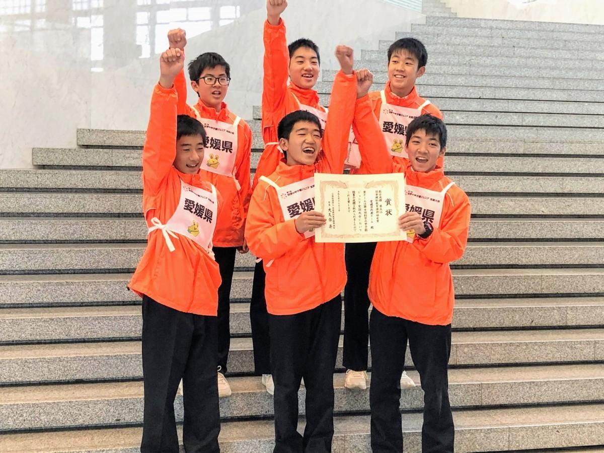「第7回科学の甲子園ジュニア全国大会」で全国5位となった愛媛県代表チームの6人