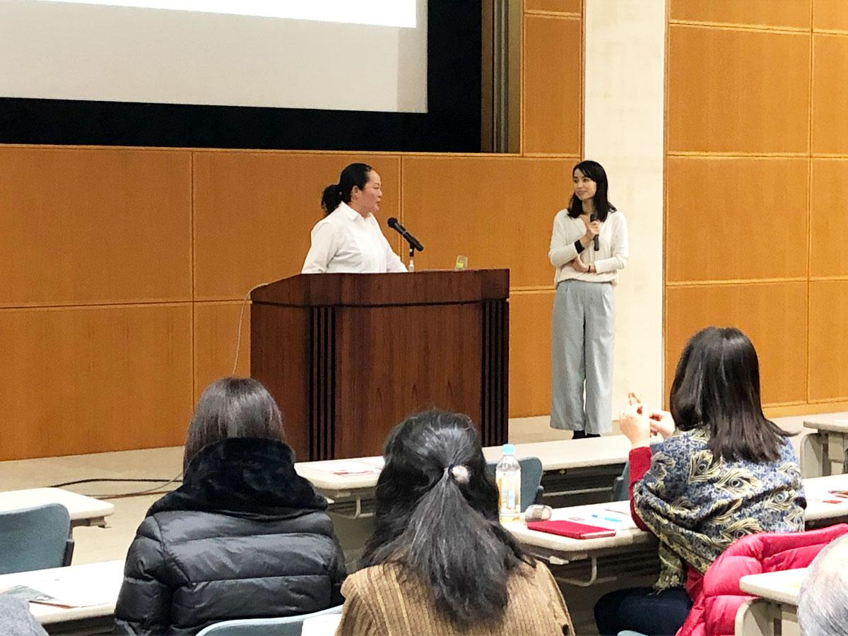 「EGF Cooperation(第2回)新事業展開及び新商品開発に向けた県内企業(創業者)マッチング交流会」に登壇した、講師の竹林直美さん