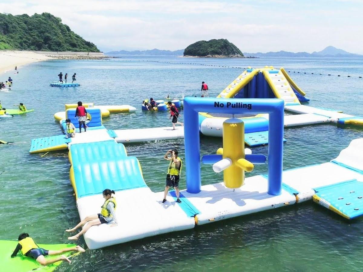 中島の水上アスレチック「スプラッシュビーチ The 中島」今年は7月20日 ...