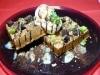 人気スイーツを組み合わせ特別ワッフル-松山のカフェ、4周年で限定提供