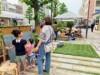 松山市花園町「道de遊ぼう」しゃぼん玉や巨大オセロ、ハンモックも登場