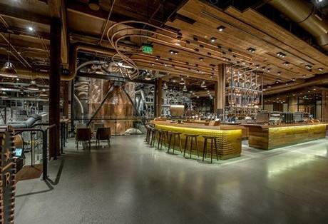 シアトルに2014年にオープンしたロースタリー1号店の店内