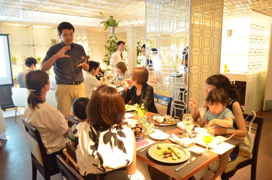 白金台でオーガニック食イベント コース料理と共に学ぶ
