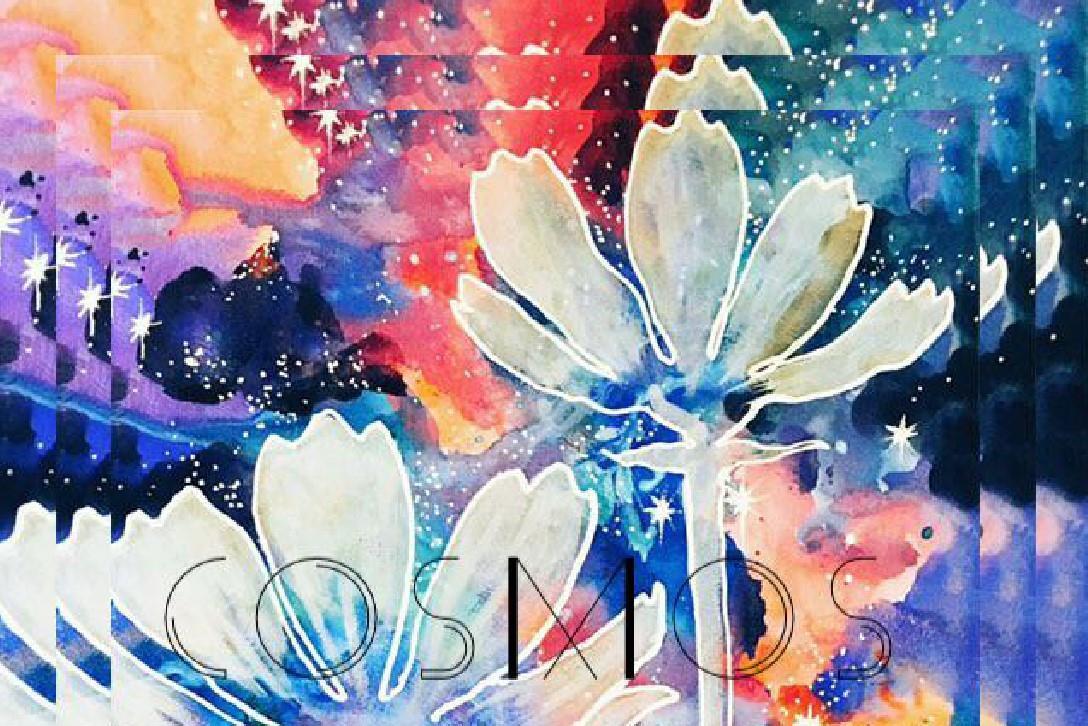 今回の作品は『コスモスの花』がテーマ。コスモスの花言葉は美麗・宇宙・調和。