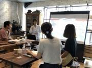 コーヒーマイスターによるセミナーの様子「おいしい珈琲の淹(い)れ方 その壱 ~あなたと珈琲の出会い~」