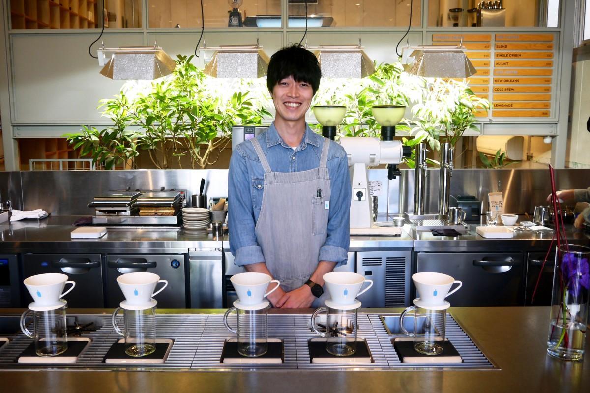 ブルーボトルコーヒー 中目黒カフェ 店長の石垣輝之さん