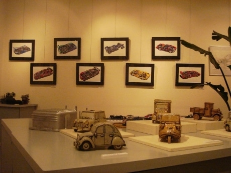 「AUTOMOBILE ART EXIBITION PART-1」の様子