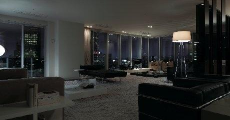 「ブリリアタワー名古屋グランスイート」のモデルルーム内。写真=「Uタイプ」室内
