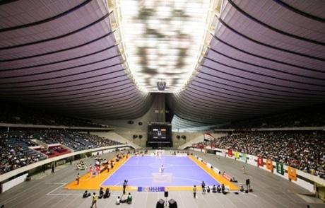 日本フットサルリーグの大会風景