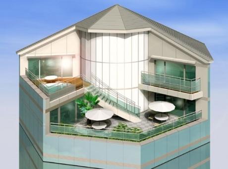 360度回転する家のイメージパース