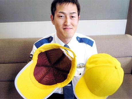 交通安全帽子、男性用=キャップタイプ
