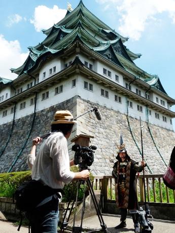 名古屋城で行われた「名古屋おもてなし武将隊」の「加藤清正」の撮影