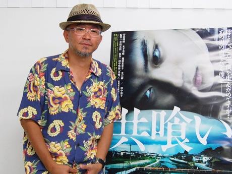映画「共喰い」のPRで来名した青山真治監督