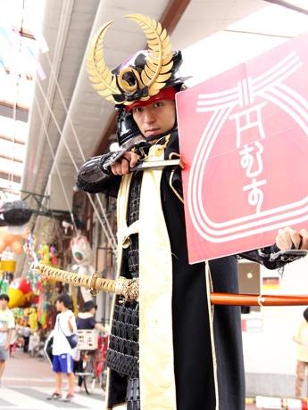 ウオーキングイベント「円頓寺幕府 参勤交代ウオーキング」を開催する徳川家康