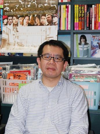 映画「あいときぼうのまち」のPRで来名した菅乃廣監督