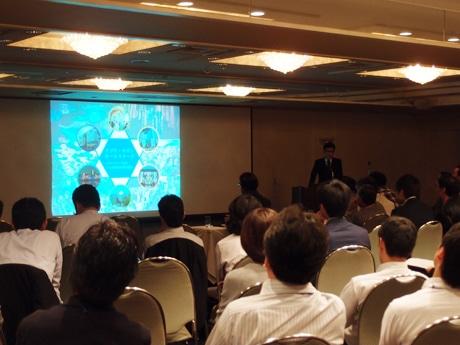 名古屋工業大学大学院生による発表会の様子