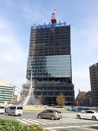 開発を進める「大名古屋ビルヂング」の現在の様子