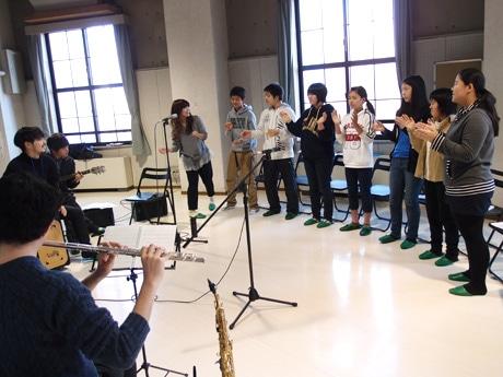 名古屋市演劇練習館「アクテノン」での練習風景