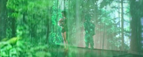映像インスタレーションとパフォーマンスの作品「wald(ヴァルト)」のイメージ