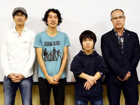 (右から)田中要次監督、中村祐太郎監督、神保慶政監督、山田雅和監督