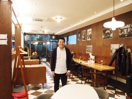 オーナーの田尾大介さん。西アサヒ店内にて
