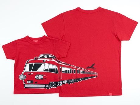 名古屋鉄道パノラマカー7000系をモチーフにしたTシャツ