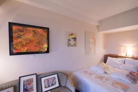 名古屋のホテルでアートフェア 客室をギャラリーに26店が参加