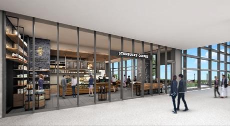 「JRゲートタワー」にオープンするスターバックス コーヒー(外観イメージパース)